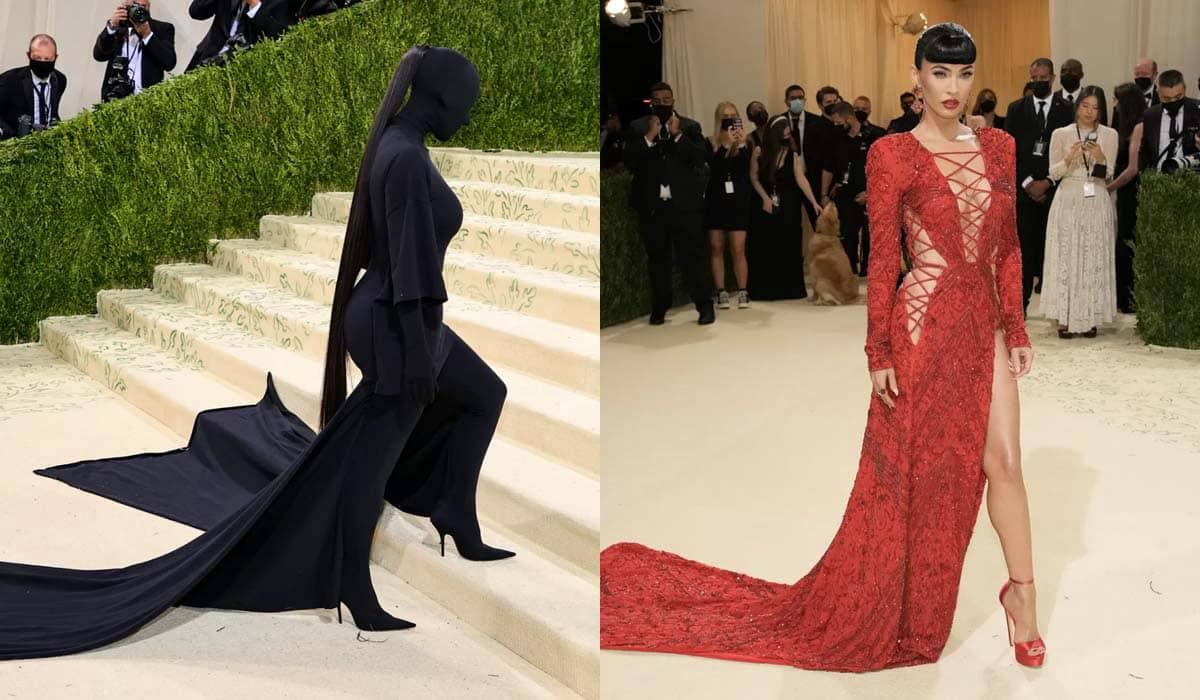 Kim Kardashian e Megan Fox chamaram atenção no MET Gala 2021